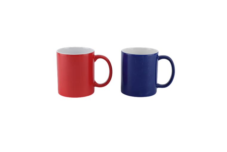11oz red and blue color changing/ magical mug