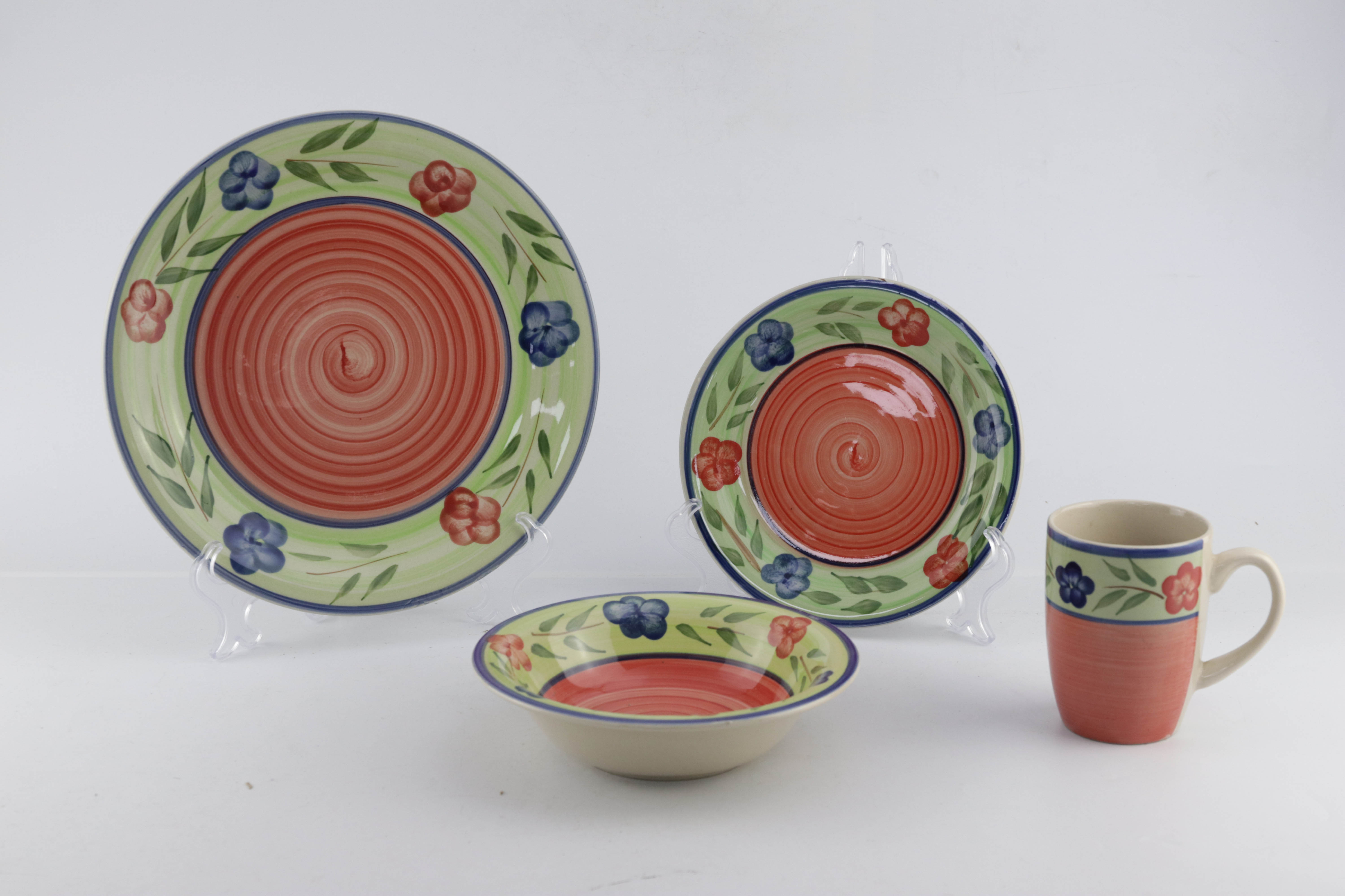 16pc & 24pc hand-painted ceramic dinner set for family use 13