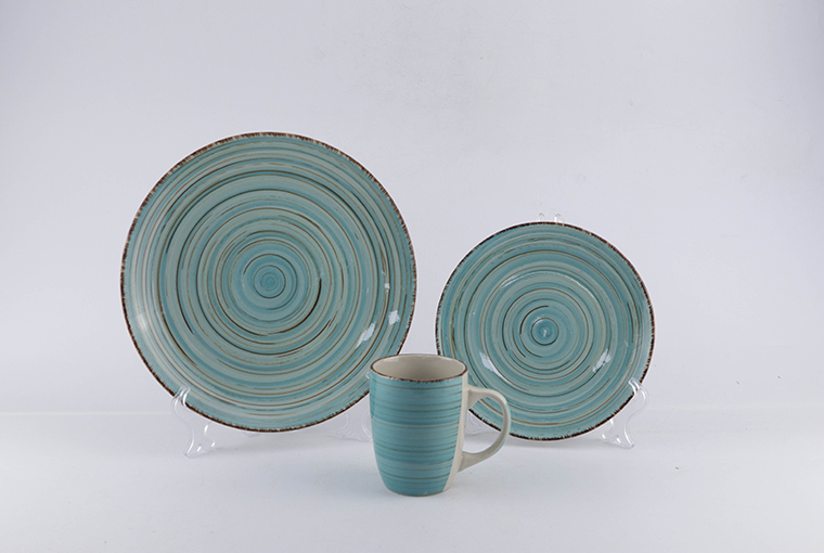 12pc & 18pc hand-painted ceramic dinner set for family use   7