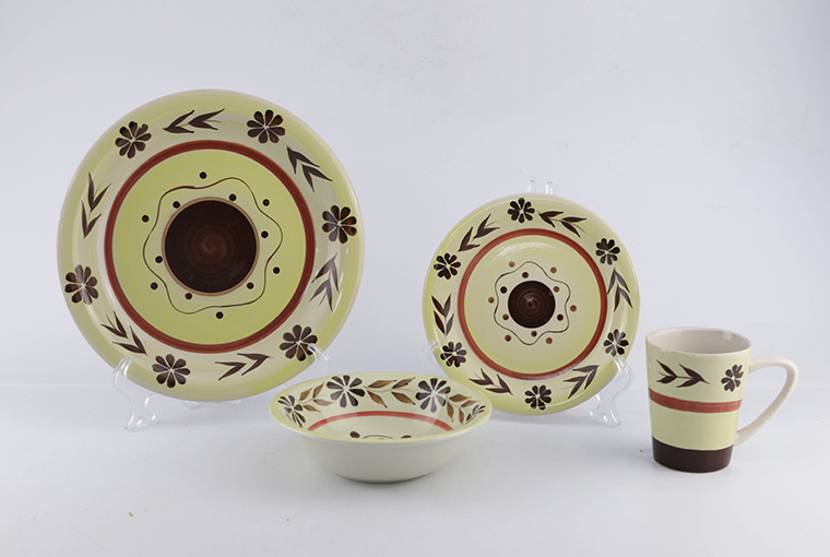 16pc & 24pc hand-painted ceramic dinner set for family use 9