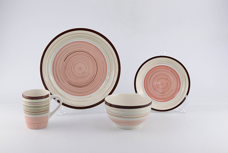 16pc & 24pc hand-painted ceramic dinner set for family use  6