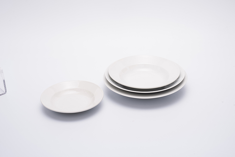 Great white plate with reinforced rim for hotel catering  8