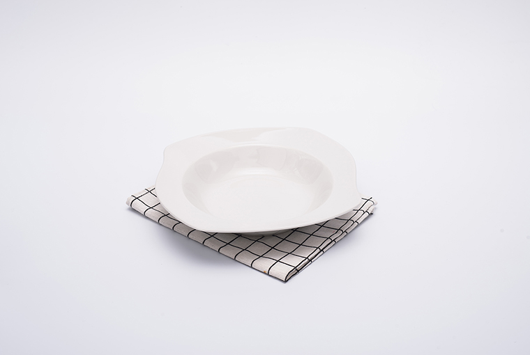 heteromorphic Great white plate with reinforced rim for hotel catering  4