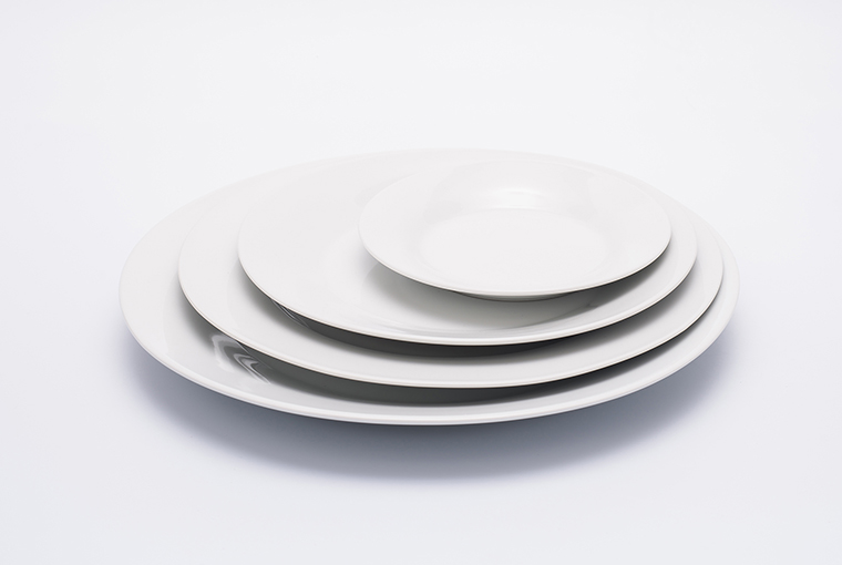 Great white plate with reinforced rim for hotel catering  10