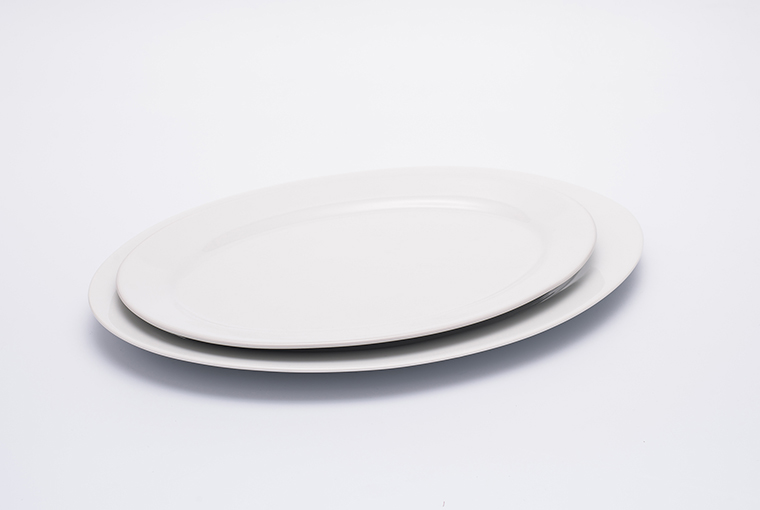 Oval Great white plate with reinforced rim for hotel catering  6