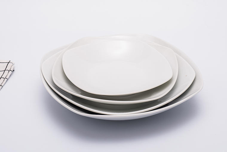 square shape Great white bowl with reinforced rim  10