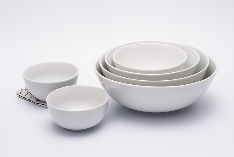 Great white bowl with reinforced rim for hotel catering 7