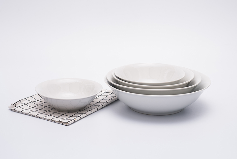 Great white bowl with reinforced rim for hotel catering 3