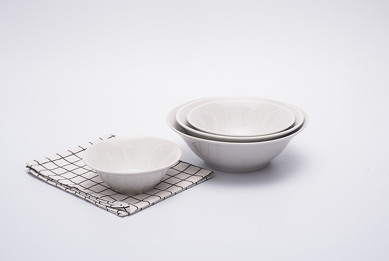 bowl with reinforced rim for hotel catering  great white 4