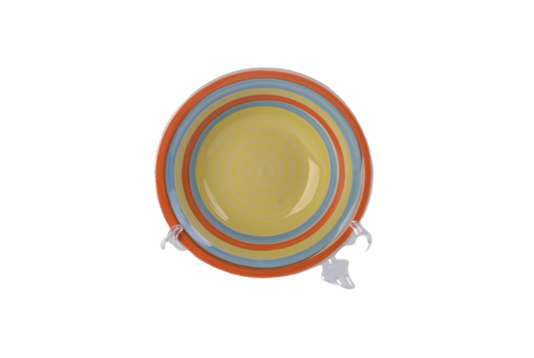 8'' colorful hand painted soup plates