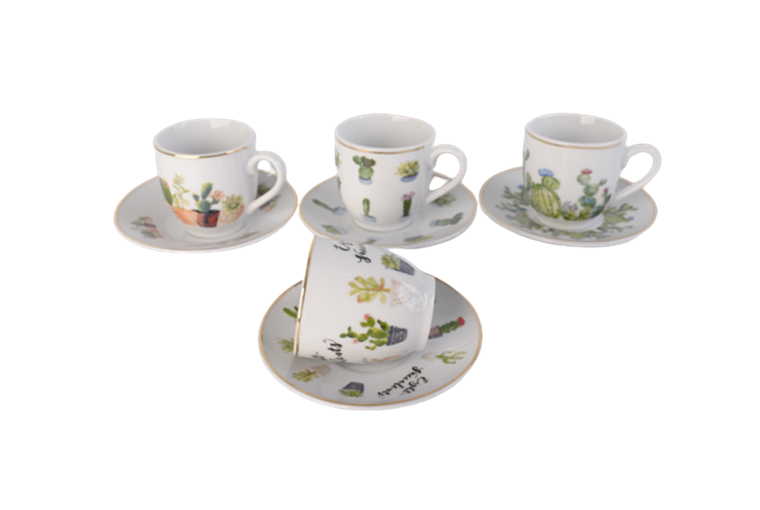 mexico cactus fancy coffee cup and saucer set 17
