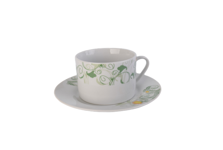 220cc flower pattern coffee sets with tray 1 2