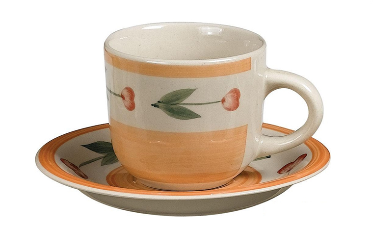 new design 220cc  hand-painted coffee cup set 2
