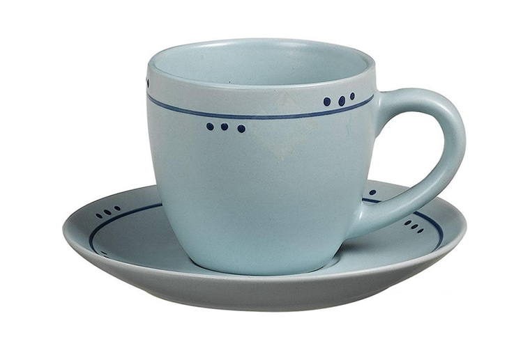 color glazed tea cup and saucer wholesale 18