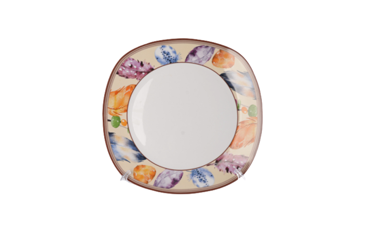 Colored lace dinner plate 45